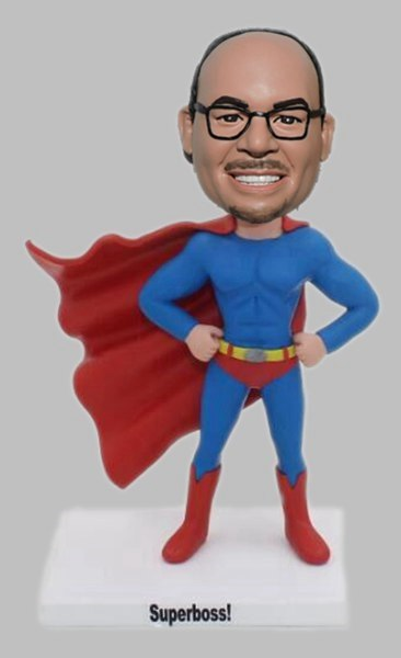 Custom Personalized superhero bobblehead for boss