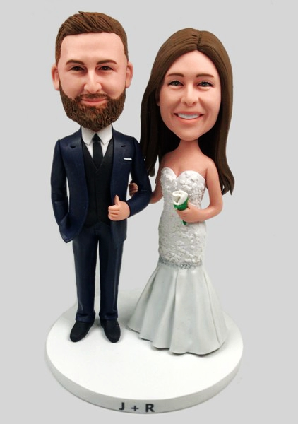 Custom Custom Bobblehead For Wedding Cake Topper