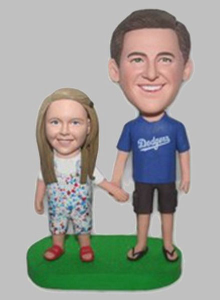Custom Father and daughter bobblehead