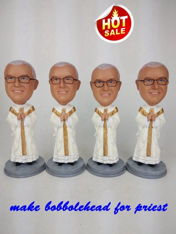 Custom Best bobblehead gift for priest