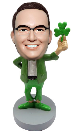 Custom St Patrick's Day bobblehead