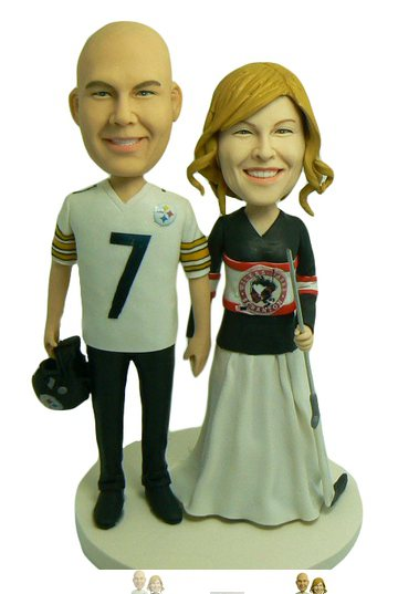 Custom Hockey bobbleheads couple