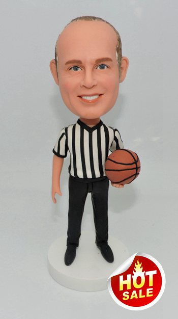 Custom Custom basketabll ref or coach bobblehead