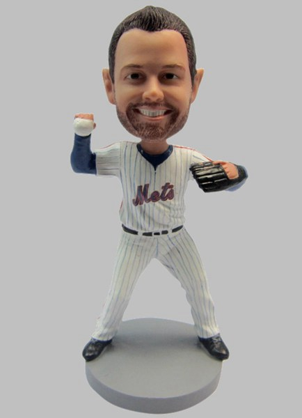 Custom Custom Bobblehead NY METS Baseball Pitcher