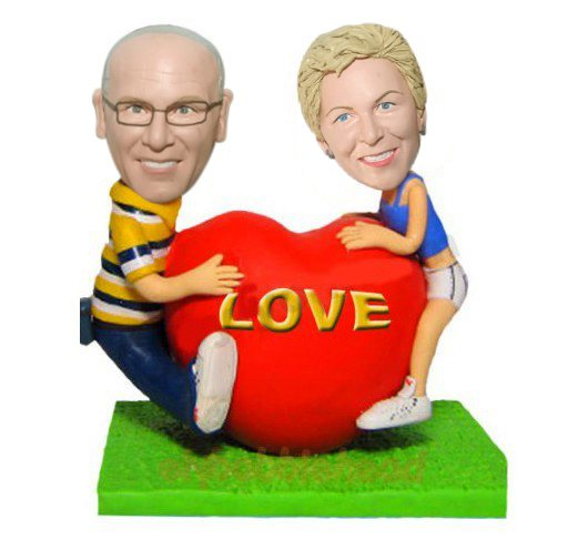Custom Couple on Valentine's Day bobblehead