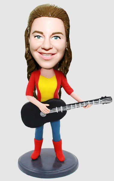 Custom Custom Female Guitar Player Bobblehead