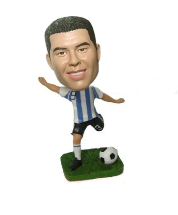 Custom soccer player bobblehead