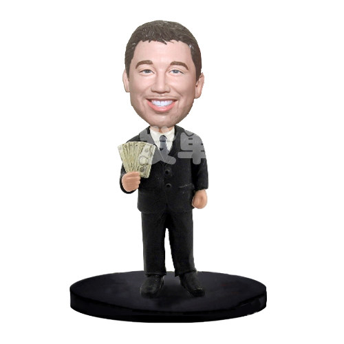 Custom Boss with Money bobblehead