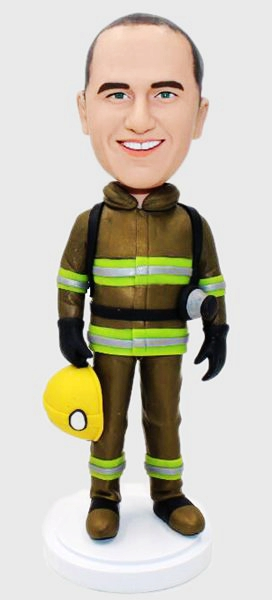 Custom Custom firefighter bobbleheads