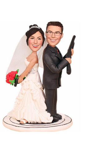 Custom Custom wedding cake topper with guns