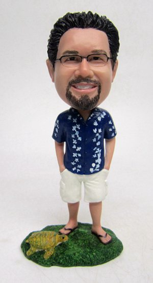 Custom Custom Hawaii bobblehead with turtle