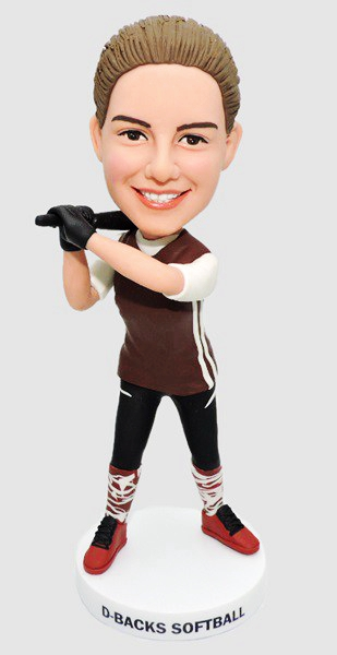 Custom Custom Bobbleheads Female Baseball Player