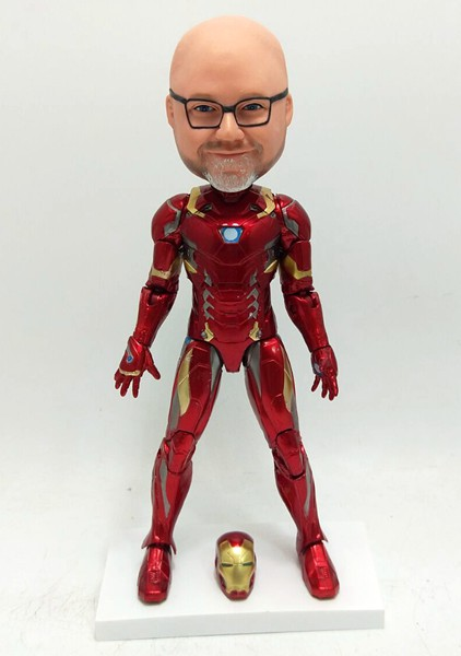 Custom Personalized Bobblehead Iron Man