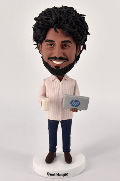Custom Custom Bobblehead With Laptop