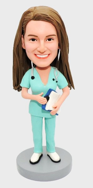 Custom Hospital Female Nurse bobbleheads