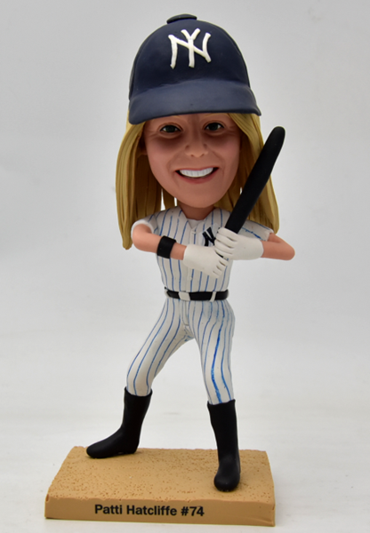 Custom Custom Female NY Yankee Baseball Bobbleheads