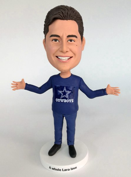 Custom Custom Cheer Bobblehead For Cowboys Fans