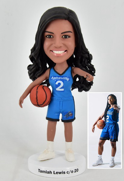 Custom Custom Bobblehead Female Basketball Player