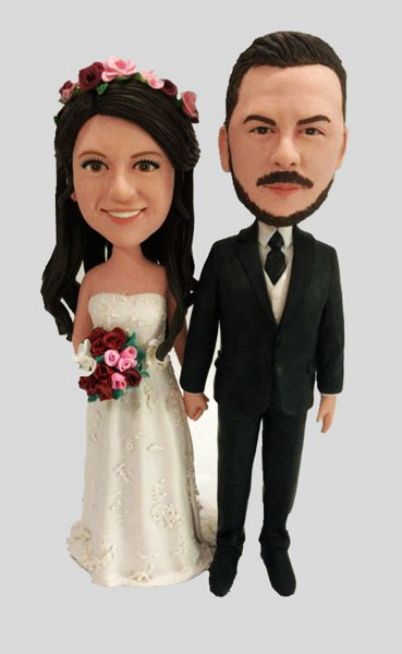Custom Wedding Bobblehead For Cake Topper