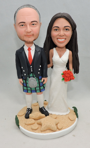 Custom Custom Bagpiper groom wedding topper