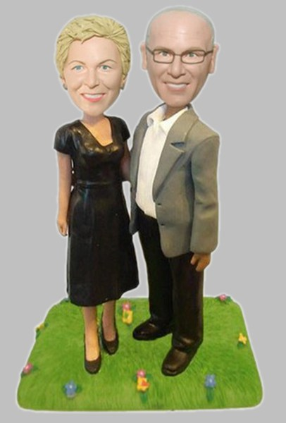 Custom Elegant couple bobblehead
