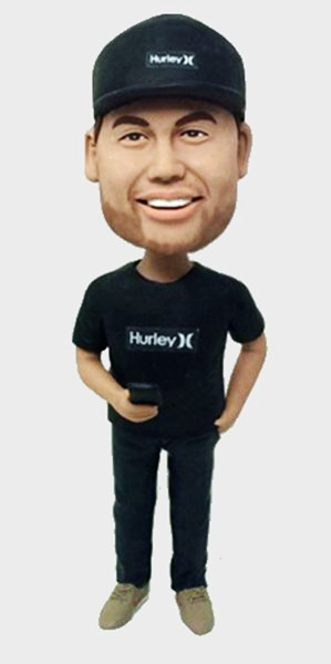 Custom Custom Casual Bobblehead With Smartphone
