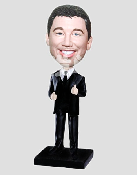 Custom Thumbs Up Businessman bobbleheads