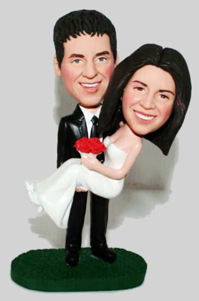 Custom Custom wedding bobbleheads cake toppers