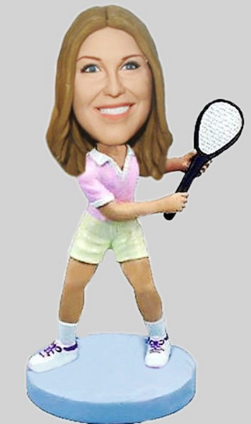 Custom Tennis girl custom bobbleheads