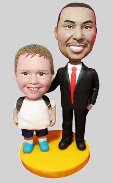 Custom Father and son bobblehead