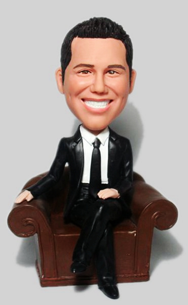 Custom Boss sit on couch Custom bobbleheads