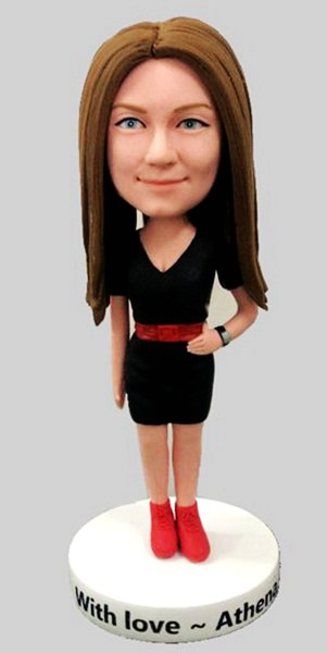 Custom Fashional Office Lady bobbleheads