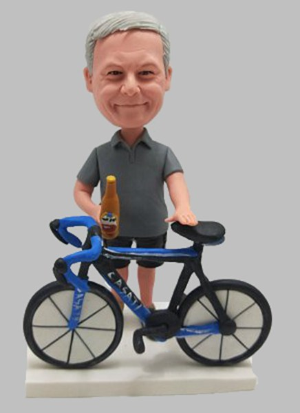 Custom Custom Bobbleheads Cycle Biker
