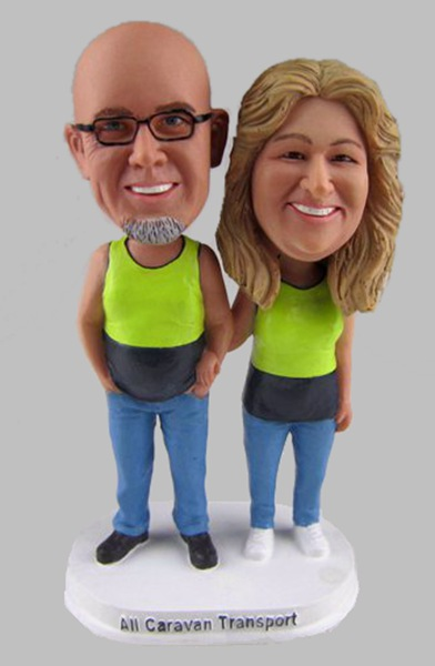 Custom Anniversary Bobbleheads make from photo