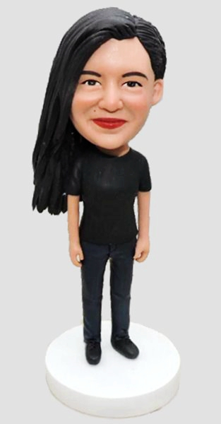 Custom Personalized bobbleheads for cool girl