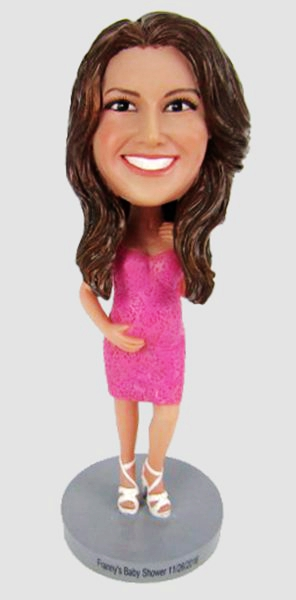 Custom Personalized Pregnant Mother Bobblehead