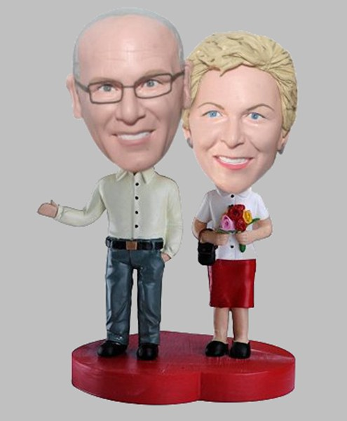 Custom Custom Couple bobbleheads gift for anniversary