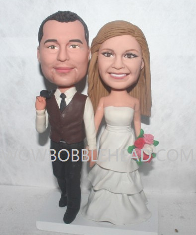 Custom Custom Wedding bobbleheads