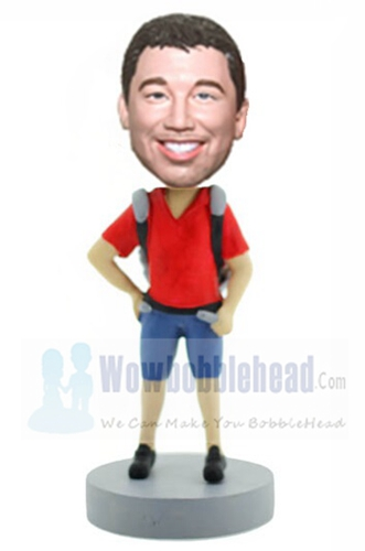 Custom Backpacker Custom bobbleheads