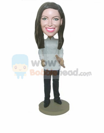 Custom Female chef bobblehead