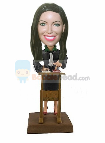 Custom Female lawer bobblehead