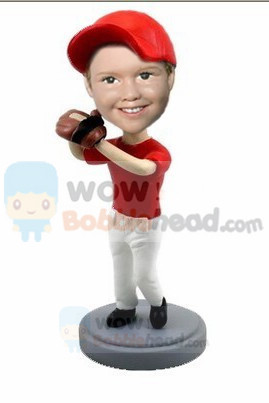 Custom Young baseball school boy bobblehead