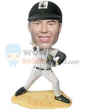 Custom New York Yankees Baseball pitcher bobblehead