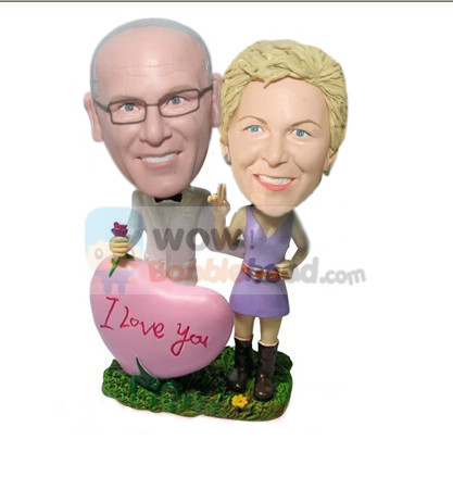 Custom Parents on Valentine's Day bobbleheads