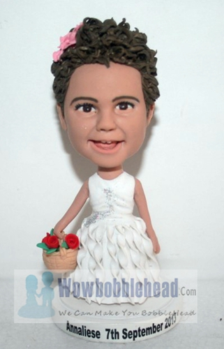 Custom Flower girl bobblehead 1593-3