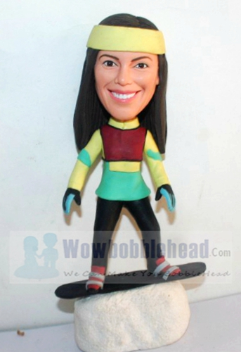 Custom Female snowboard bobbleheads