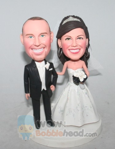 Custom wedding Bobblehead cake toppers