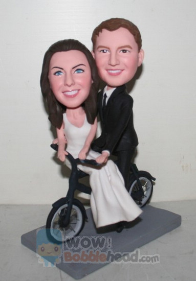 Custom Custom cake topper Bicycle themed wedding