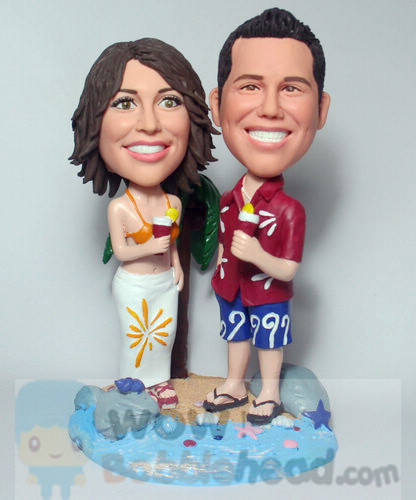 Custom Sea Beach Anniversary Bobblehead