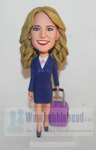 Custom Custom Bobbleheads air hostess or office Lady